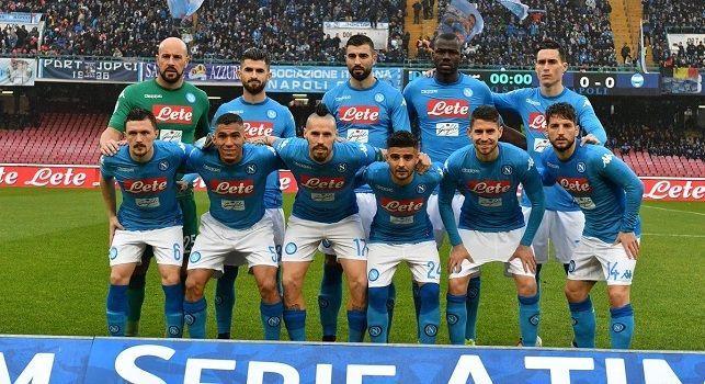 Napoli-Spal, la formazione azzurra