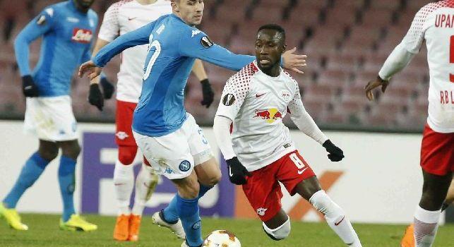 Lipsia, Keita si infortuna contro l'Eintracht Francoforte: rischia di saltare il Napoli