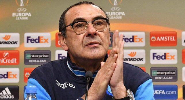 Maurizio Sarri, allenatore del Napoli in conferenza stampa