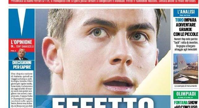 Tuttosport in prima pagina: Effetto Dybala su Juve-Napoli, pronto a spostare gli equilibri nel duello scudetto [FOTO]