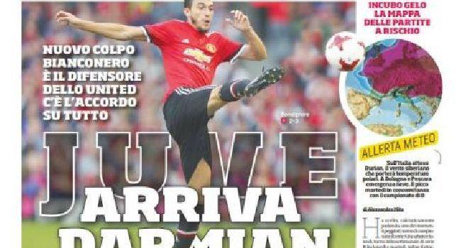 Corriere dello Sport, la prima pagina: EL, agli azzurri non basta il 2-0 di Lipsia. Spazio anche al mercato: Juve, arriva Darmian [FOTO]