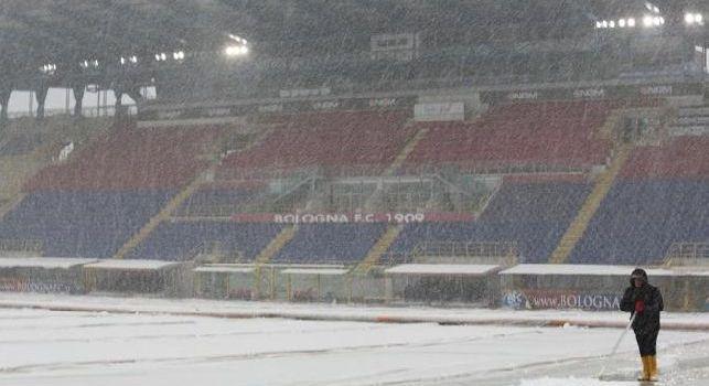 Allerta meteo, pioggia e neve mettono Bologna-Genoa a rischio rinvio!