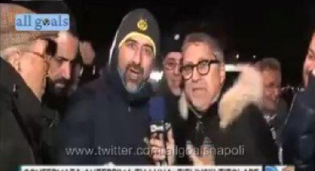 È finita!, Dove vai? Ha segnato la Juve: imperdibile siparietto con Alvino all'esterno del San Paolo [VIDEO]