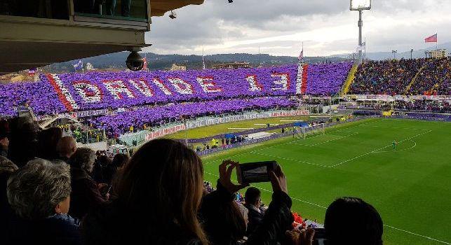 Fiorentina-Benevento, minuto di sospensione al 13': coreografia indimenticabile della Fiesole [FOTO & VIDEO]
