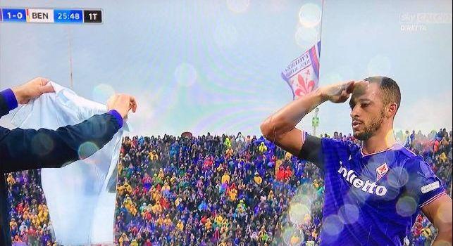 Serie A - Fiorentina-Benevento 1-0 al primo tempo: la sblocca Vitor Hugo e lo dedica ad Astori