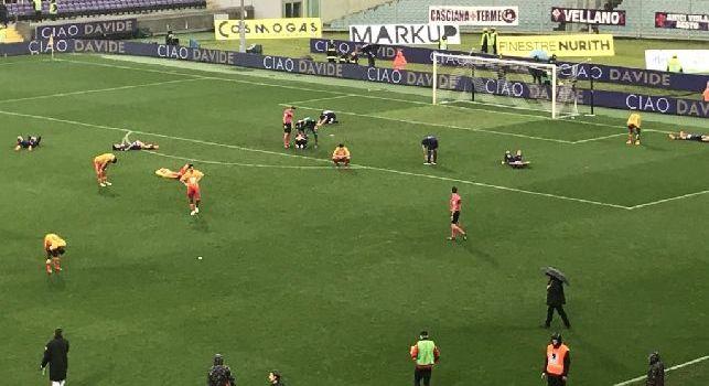 Serie A - Fiorentina-Benevento finisce 1 a 0: a fine gara tutti i calciatori scoppiano in lacrime [FOTO]