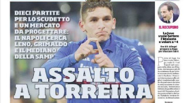 La prima pagina del Corriere dello Sport: Assalto a Torreira, Leno e Grimaldo [FOTO]