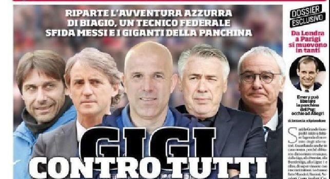 Prima Pagina Corriere dello Sport: Volata scudetto, carica Napoli: in 4000 a Reggio [FOTO]