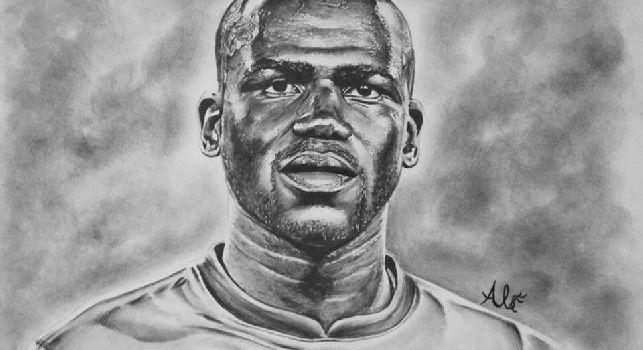 Bellissimo omaggio a Koulibaly, ritratto fantastico per il difensore azzurro [FOTO]