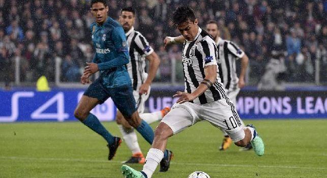 Dybala con la maglia della Juventus