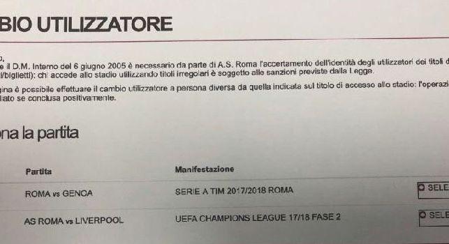 Champions League, Roma-Liverpool...anticipata già ieri dal sito dei giallorossi! [FOTO]