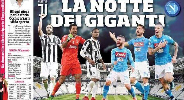 CorSport in prima pagina apre su Juve-Napoli: La notte dei giganti [FOTO]