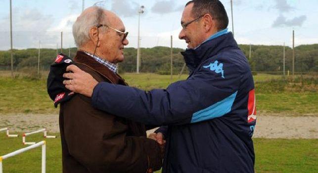 Luis Vinicio insieme a Maurizio Sarri