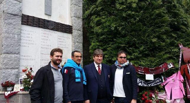 Sarri omaggia il Grande Torino a Superga