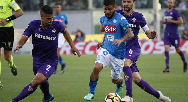 Vincent Laurini e Lorenzo Insigne in Fiorentina - Napoli