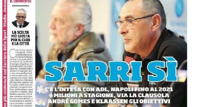 La prima pagina del Corriere dello Sport