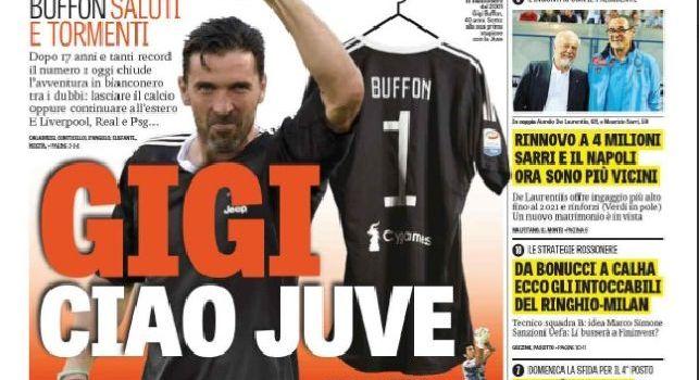 La prima pagina de La Gazzetta dello Sport: Rinnovo a 4 milioni, Sarri e il Napoli ora sono più vicini [FOTO]
