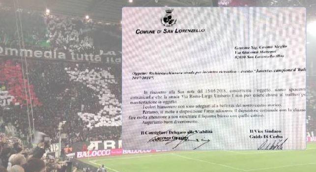 Tifosi della Juve chiedono di far festa al centro storico, sindaco nel beneventano risponde: Fatela al depuratore