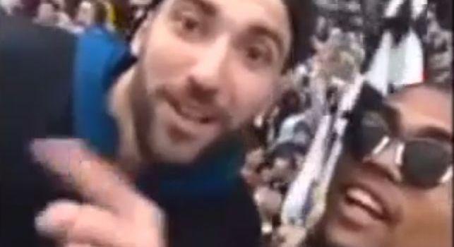 Festa Scudetto Juve, Higuain provoca e manda baci: I campioni dell'Italia siamo noi, nessuno più! [VIDEO]