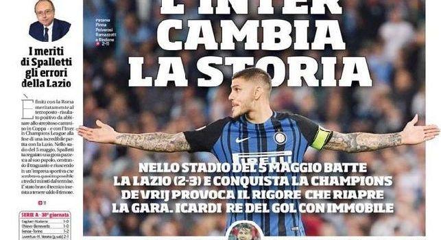 Prima Pagina Corriere dello Sport: Napoli, veleni e mistero: il San Paolo applaude la squadra ma il futuro di Sarri torna in bilico [FOTO]