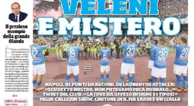 La prima pagina del Corriere dello Sport titola: Veleni e mistero: Sarri è un giallo [FOTO]