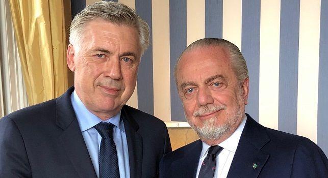 Ancelotti e De Laurentiis: foto ufficiale SSC Napoli
