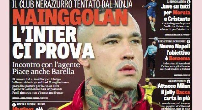 La prima pagina della Gazzetta dello Sport: Nuovo Napoli, l'obiettivo è Benzema [FOTO]