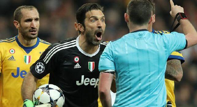 UFFICIALE - Champions League, stangata per Buffon: tre turni di squalifica dopo i fatti di Madrid!