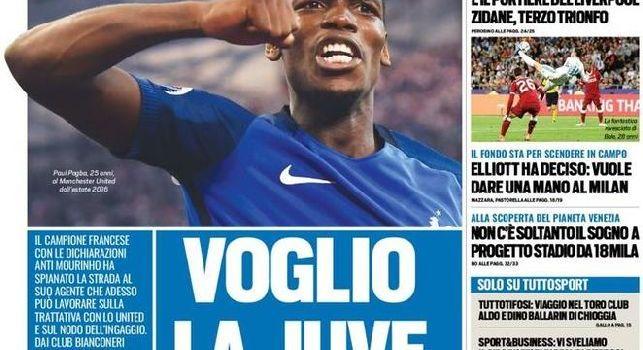 Prima pagina Tuttosport: Napoli-Sirigu, il portiere piace ad Ancelotti [FOTO]