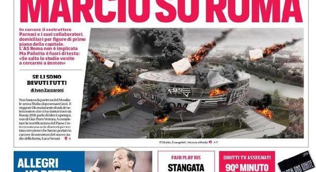 Corriere dello sport, la prima pagina: Marcio su Roma [FOTO]