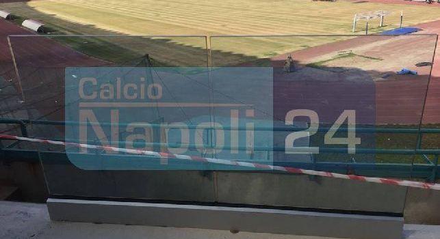 Stadio San Paolo, terreno di gioco e balauestre