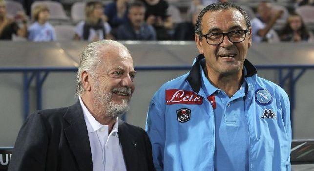 Corriere del Mezzogiorno - Sarri e Jorginho insieme al Chelsea, De Laurentiis annuncia: Maurizio a Londra alle mie condizioni