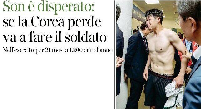 Tottenham, dramma Son: se non vince con la Corea dovrà fare 21 mesi di servizio militare a 100 euro al mese!