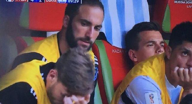 Argentina eliminata dal Mondiale, tutta la delusione sul volto di Higuain [VIDEO]