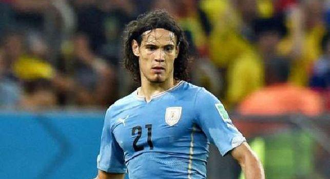 Cavani, attaccante dell'Uruguay