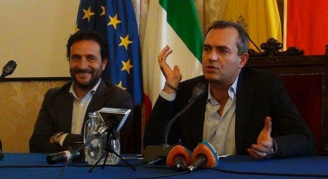 Luigi De Magistris e l'assessore Borriello