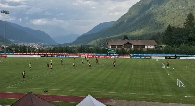 Dimaro, pomeriggio giorno 3: partita con 3 mini-porte, subito in gol Vinicius Morais! Tridente Callejon-Inglese-Verdi