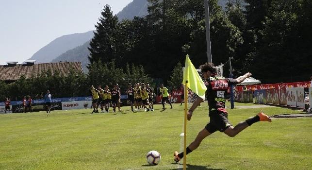 Simone Verdi, attaccante del Napoli, in ritiro a Dimaro-Folgarida