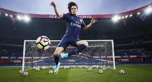 Edinson Cavani, attaccante del Paris Saint-Germain