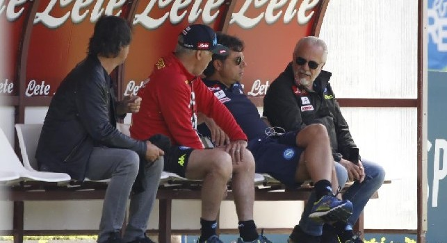Carlo Ancelotti, Cristiano Giuntoli ed Aurelio De Laurentiis