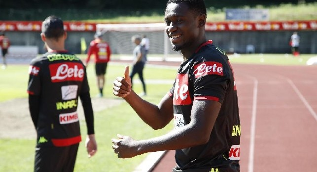 Amadou Diawara nel ritiro di Dimaro