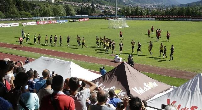 Il Napoli si allena a Dimaro-Folgarida
