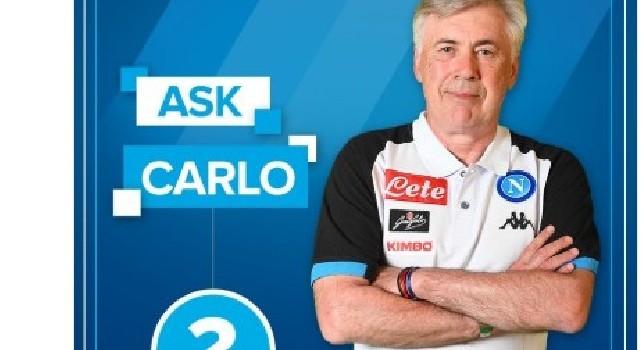 #AskCarlo, scrivi la tua domanda a mister Ancelotti: la SSC Napoli lancia l'iniziativa sui social [FOTO]