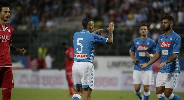 Allan sblocca il match, che conclusione! Esultanza 'corale' del Napoli [FOTOGALLERY CN24]