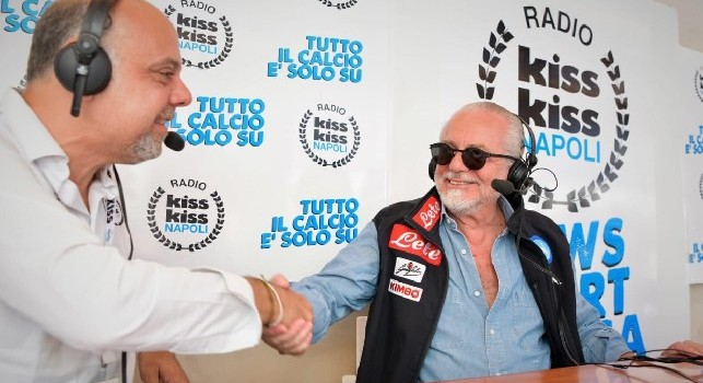 Intervista De Laurentiis radio Kiss Kiss Napoli