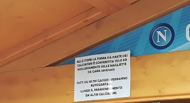 Firme dei calciatori allo store, arriva la rettifica della SSC Napoli [FOTO CN24]