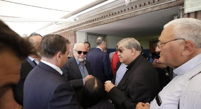 Dimaro, è arrivato il cardinale Sepe! Subito colloquio con De Laurentiis [FOTO CN24]