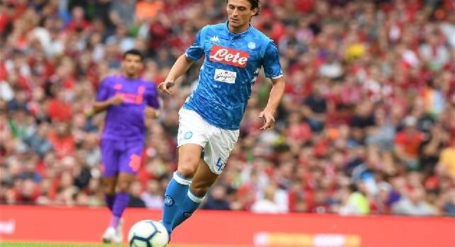 Roberto Inglese con la maglia del Napoli