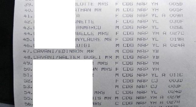 Cavani-Napoli, spuntano perfino biglietti aerei e presunte schermate con lista passeggeri: in città è psicosi