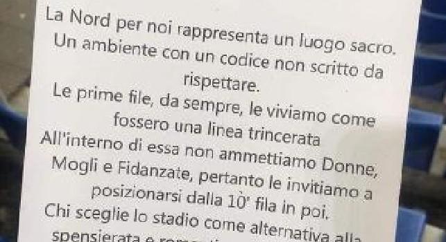Volantini anti-donne in curva per Lazio-Napoli, la Digos ha identificato i responsabili